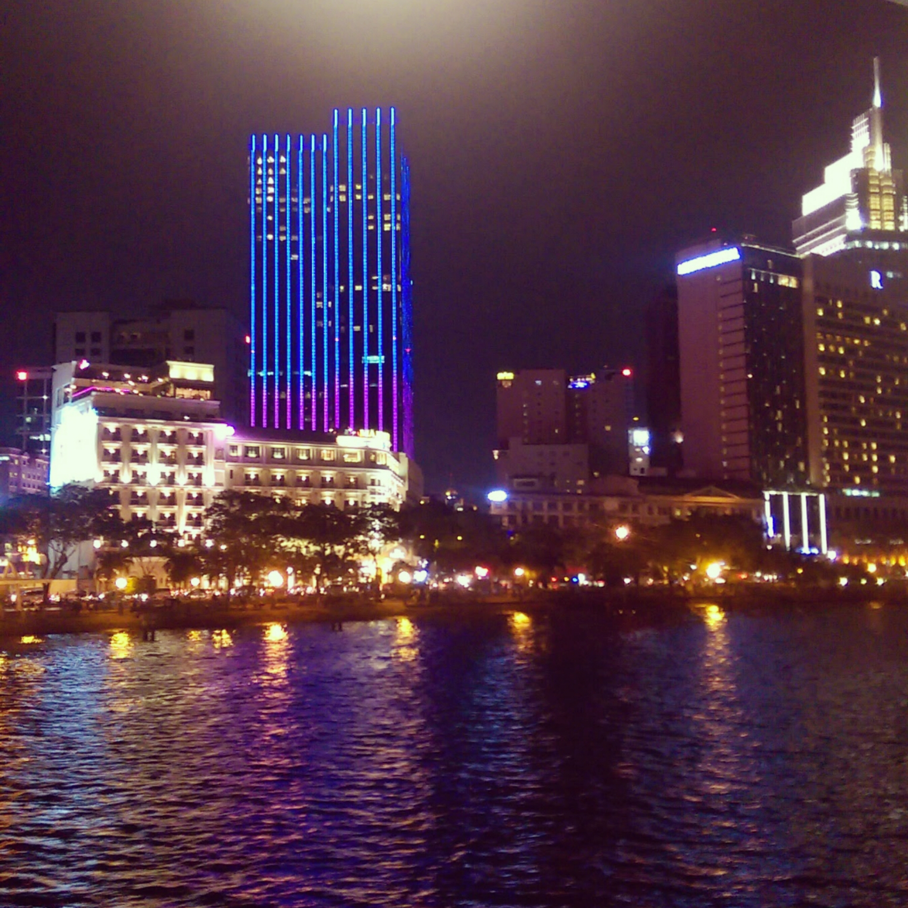 Saigon at night Vietnam Travel Blog