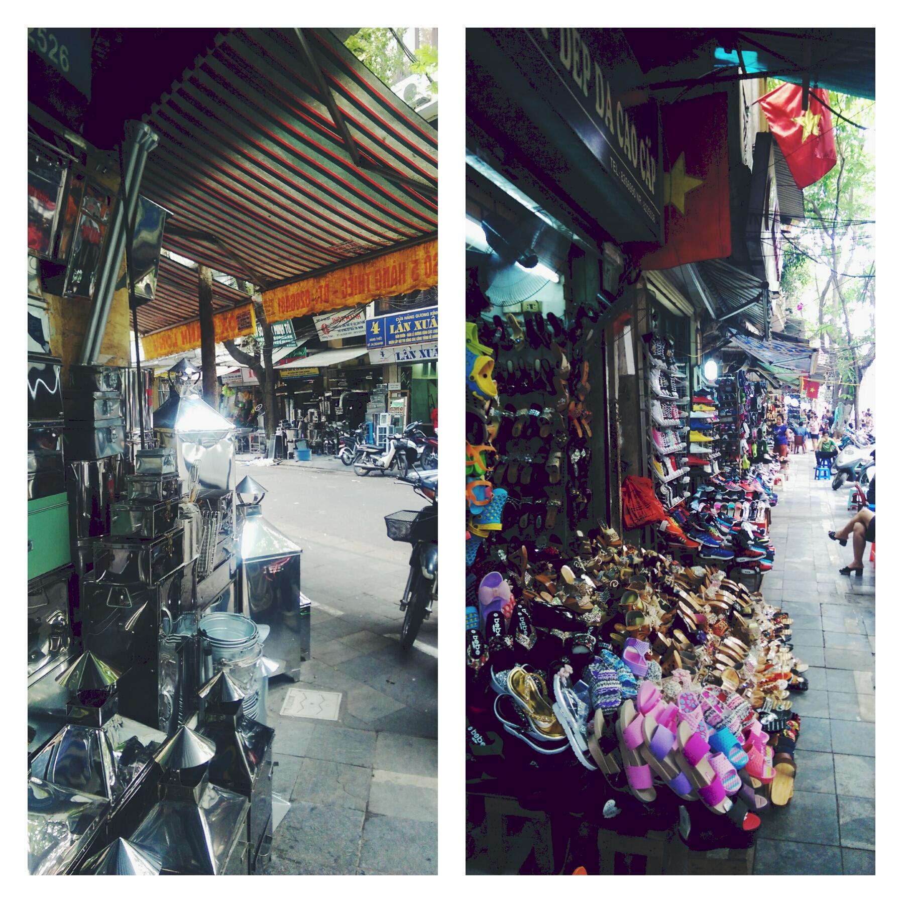 Shoe Street + Silver Street Hanoi Vietnam Travel Blog