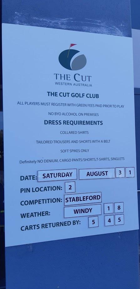 The Cut Mandurah Golf Course Western Australia - Conditions