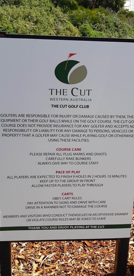 The Cut Mandurah Golf Course Western Australia - Rules